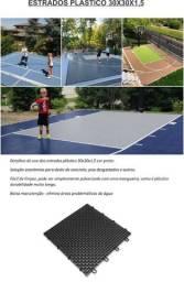 Estrados plastico forração 30x30x1,5 cor preto