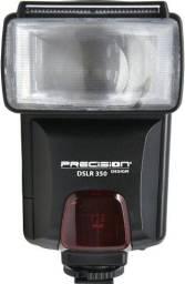 Flash para máquina fotográfica profissional  modelo dslr350 da marca precision