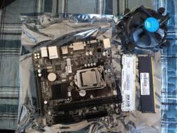 Título do anúncio: Combo Placa Mãe Gigabyte GA h110M SV2 c/ intel core i5-7400 3.0 Ghz  + 16gb RAM