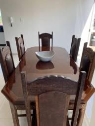 Mesa de Sucupira com 6 cadeiras