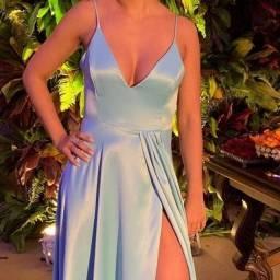 Vestido de festa Azul M