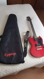 Título do anúncio: Guitarra Epiphone SG com caixa