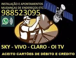 Instalação e manutenção em antenas via satélite