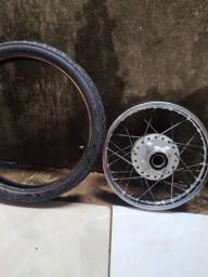 vendo pneu 17 e calha enrralhada com cubo traseiro da pop 110
