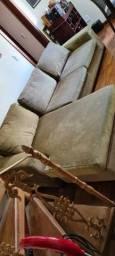 Sofá de 03 lugares com chaise