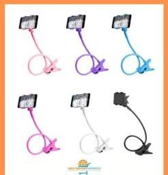 Suporte Articulado Flexivel de Mesa para Celular com Pinça