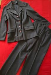 Terno com Calça - Azul Marinho lã