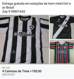 4 Camisas de Time =100,00.......