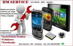 Manutenção em celulares, notebook e placas