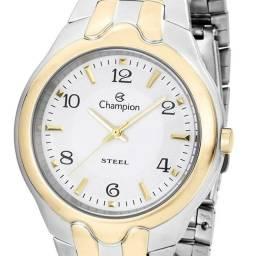 Relógio Champion Prata/Dourado 100% Original Prova D'água Novo Lacrado!