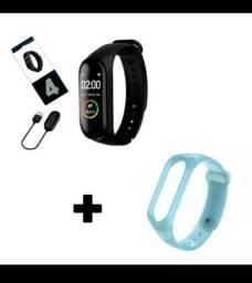 Pulseira inteligente m4 + 1 pulseira extra promoção