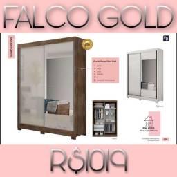 Falco Gold/Falco Gold /Guarda roupa Gold Gold
