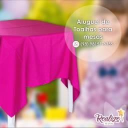Aluguel de toalhas de mesa