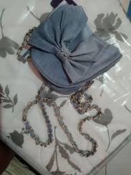 Bolsa azul pequena