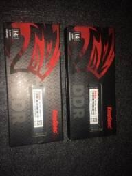 Memória RAM para Notebook  DDR4 2x4GB 2666MHz 1,2V Kingspec Novas!