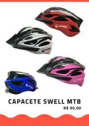 Capacetes com pisca para ciclismo MTB Swell