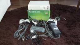Xbox 360 Fat completo+ HD 20 Gigas+ DJ Hero+ Kinect+Jogos