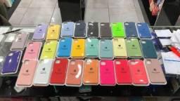 Capas para iphone novos várias cores