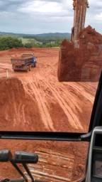 Escavadeira prestação de serviço