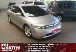 Civic Lxs 1.8 Manual +Couro +2008 +Impecavel - 2008