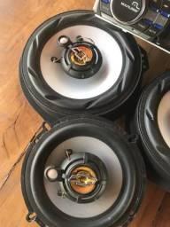 Kit alto falante diant/traseiro+2 aparelhos