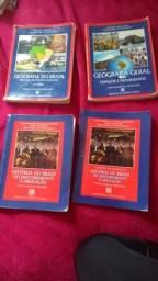 Livros didáticos geografia e história CMSM