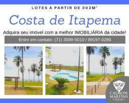Lotes em Saubara - Condomínio fechado - em frente a praia - Apenas 60.000,00