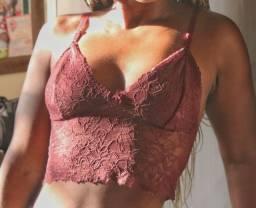 Conjunto lingerie vinho