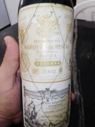 Vinho marquês de Riscal reserva 2002.