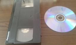 Transformamos VHS em DVD.