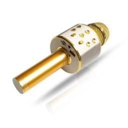 Microfone Bluetooth Karaokê Sem Fio C/ Caixa De Som Acoplada