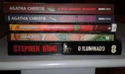 Livros da Agatha Christie e Stephen King, 15,00 cada