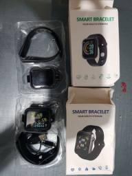 Y68 smartwatch e V6 smartwatch novos na caixa