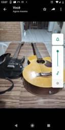 Guitarra e baixo eletrico