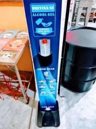 01 Totem Display Álcool em Gel Personalizado para seu Restaurantes, Bares, Padarias