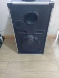 Vendo caixas de som com cornetas e falantes de 12 polegadas selenium.