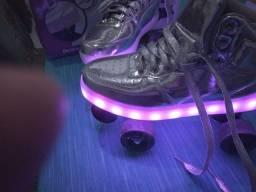 Patins 4 rodas com led