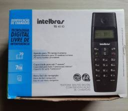 Telefone sem Fio Intelbras TS 40 ID preto - NOVO