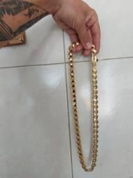 Cordão Banhado A Ouro 18K Friso