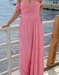 Vestido de festa rosa M