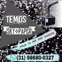 L.o.c.a.ç.ã.o de máquina sky paper para chá revelação, formaturas lança confetes  <br>