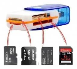 Leitor/Gravador de Cartão Memória, Pro Duo,sd, M2 e Micro Sd