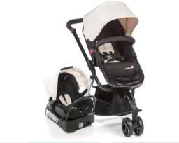 Carrinho e bebê conforto Safety-st Travel System Mobi - Bege