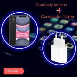 Combo Iphone 11 + Carregador Turbo