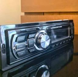 Som automotivo Bluetooth, USB, SD e xabo auxiliar