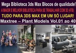 3ds Max- Blocos, Texturas, Hdri../ Mega biblioteca- Confira!