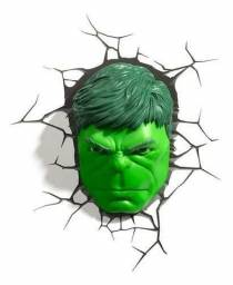 Marvel - Luminária Rosto do Hulk
