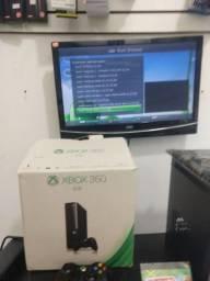 Xbox 360 Desbloq Total + coletânea c 500 jogos e garantia R$650(6x 125 cartão)