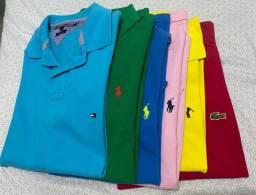 Lote 6 Polos - Originais - Usadas - Lacoste - Tommy
