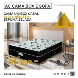 Cama Uni-box casal 8cm de espuma